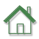 home-shape-icon-transparant-groen